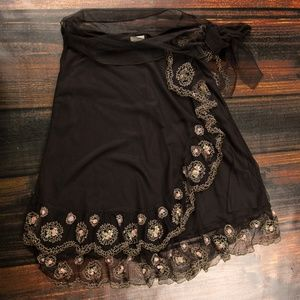 Romantic Anthropologie Odille Tulle Skirt - Small